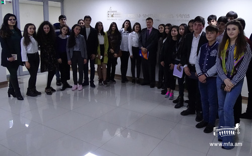 Eurasia International University College students visit to the Diplomatic School